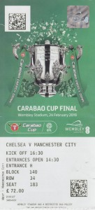 Chelsea Carabao cup final 2018 to 19 ticket