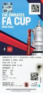 Brighton FA Cup semi 2018 to 19 ticket
