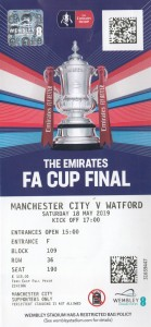 Watford FA Cup final 2018 to 19 ticket