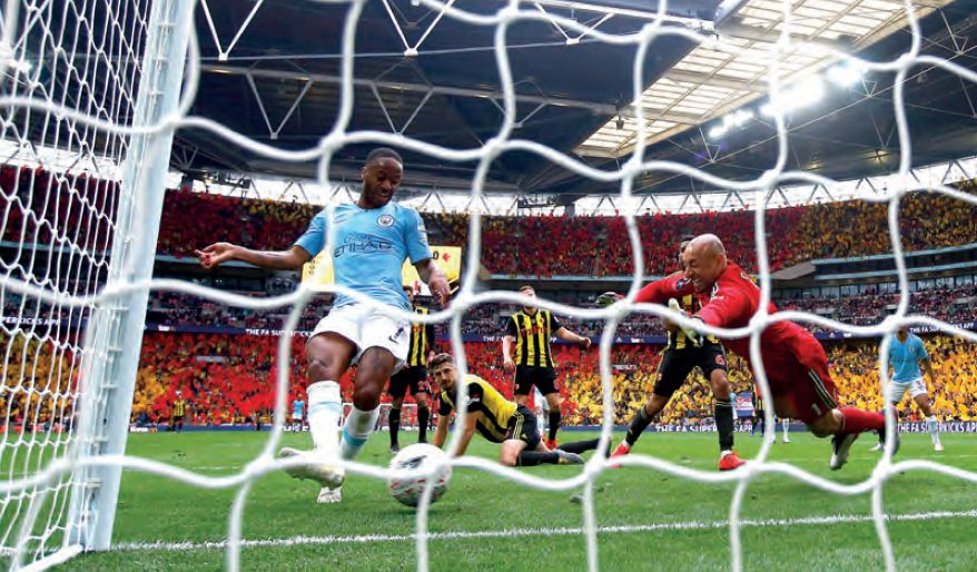 watford fa cup final 2018 to 19 sterling goal