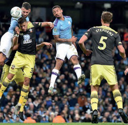 southampton lge cup 2019 to 20 otamendi goal