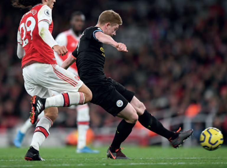 arsenal away 2019 to 20 2nd de bruyne goal