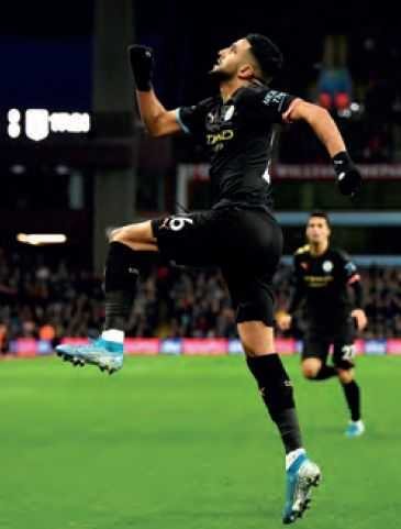 aston villa away 2019 to 20 mahrez goal 1-0