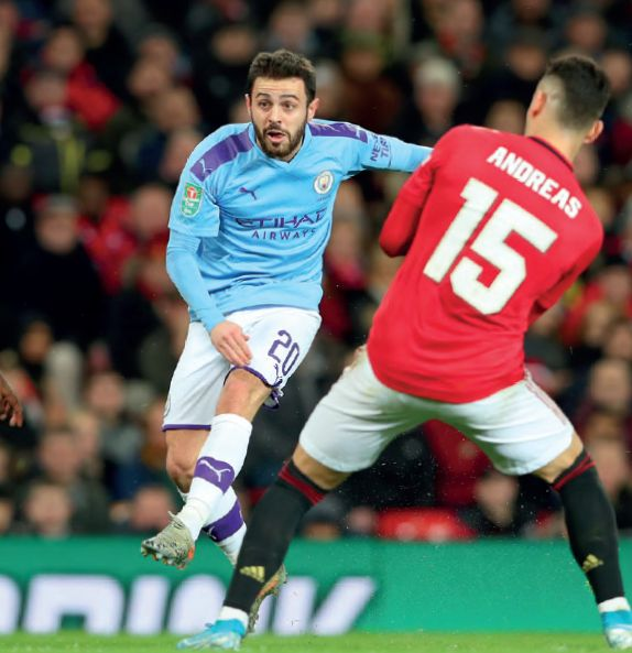 man utd away carabao cup 2019 to 20 b silva goal1