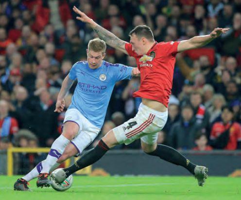 man utd away carabao cup 2019 to 20 de bruyne goal1