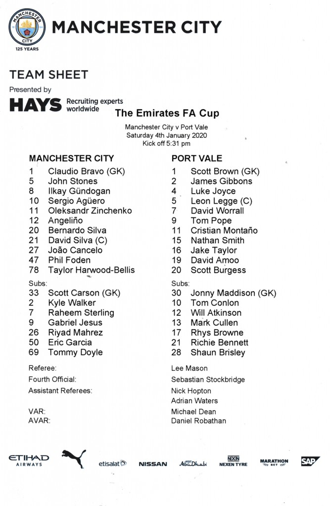 port vale 2019 to 20 team sheet