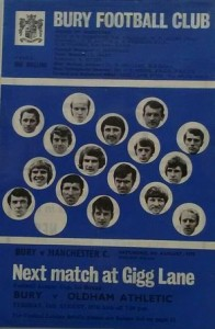 Bury 1970 to 71 prog