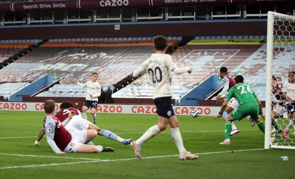 aston villa away 2020 to 21 foden goal