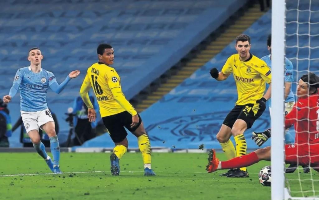 borussia dortmund 2020 to 21 foden goal