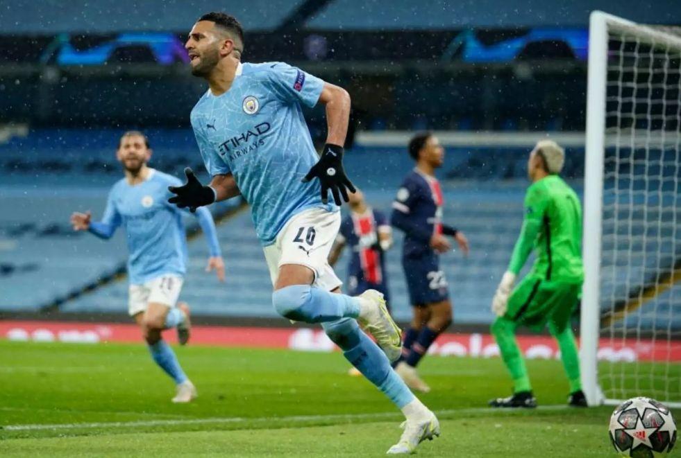 psg home 2020 to 21 mahrez goal