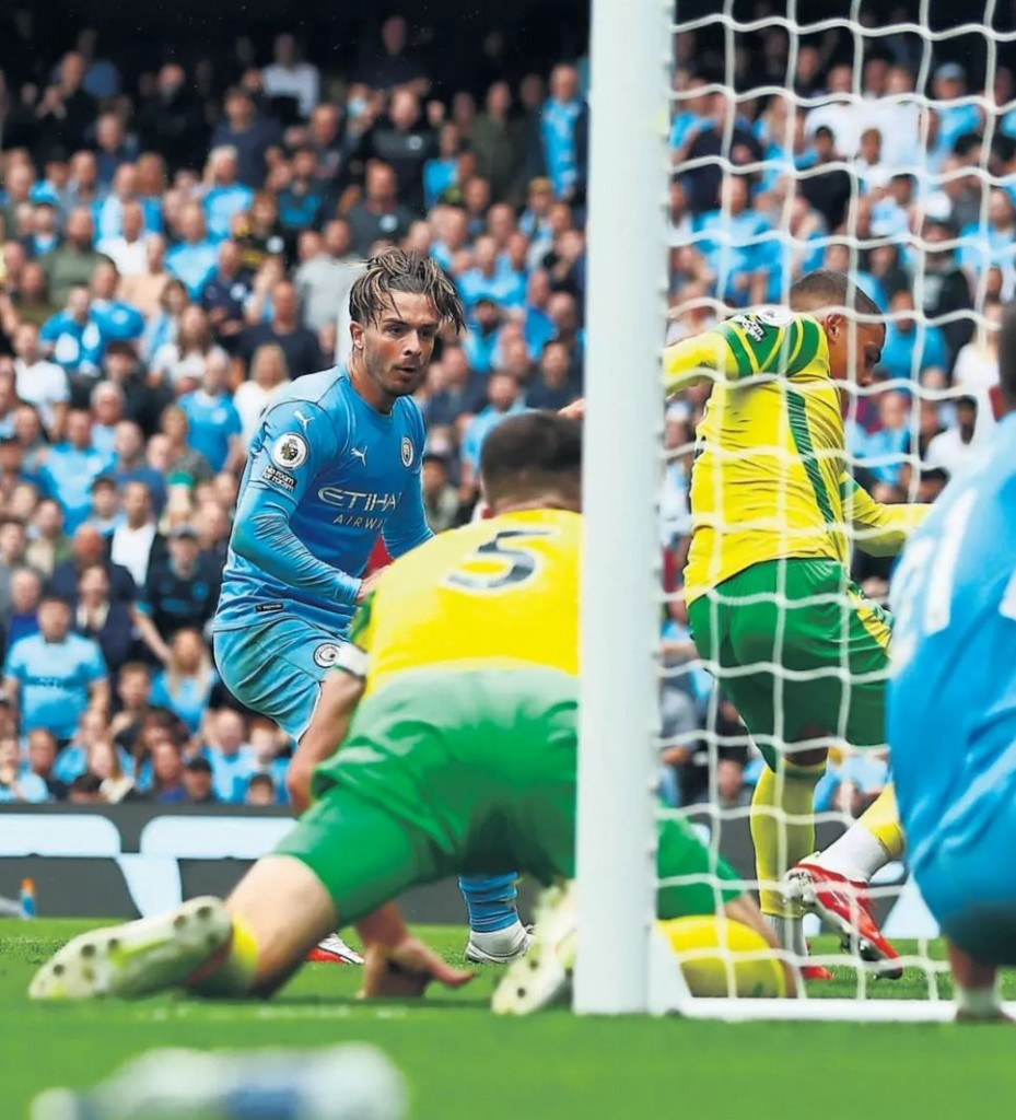 norwich home 2021 to 22 grealish goal2