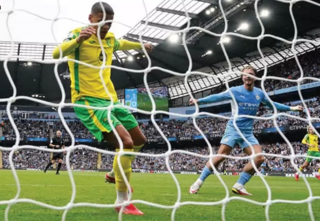 norwich home 2021 to 22 grealish goal3
