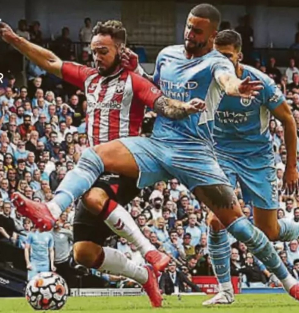 southampton home 2021 to 22 walker red overturned tackle1