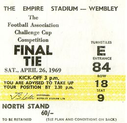 1968-69 fa cup final ticket