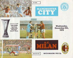 AC Milan home 1978 to 79 prog