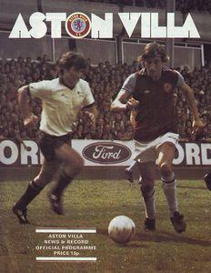 ASTON VILLA AWAY league cup 1976 TO 77 prog