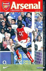Arsenal away 2002 to 03 prog