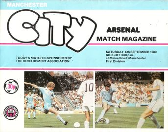 Arsenal home 1980 to 81 prog