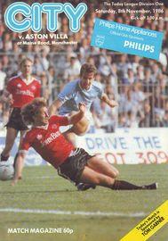 Aston Villa home 1986 to 87 prog