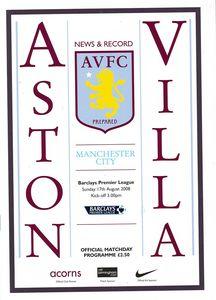 Aston villa away 2008 to 09 proga