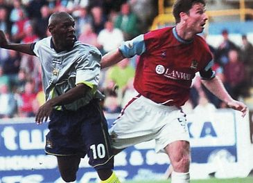 BURNLEY away 2001 to 02 goater 1st goala