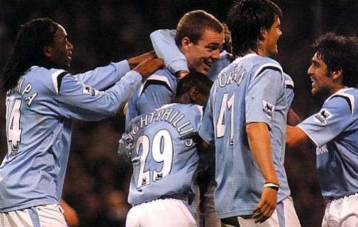 Birmingham home 2004 to 05 dunne goal