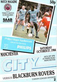 Blackburn home 1984 to 85 prog