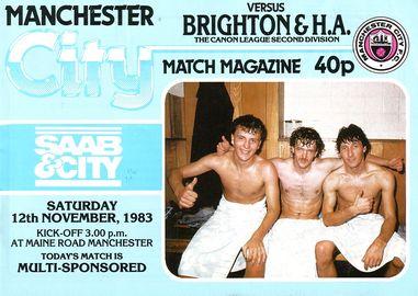 Brighton home 1983 to 84 proga