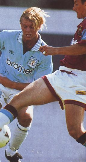 Burnley away friendly 1995 to 96 action