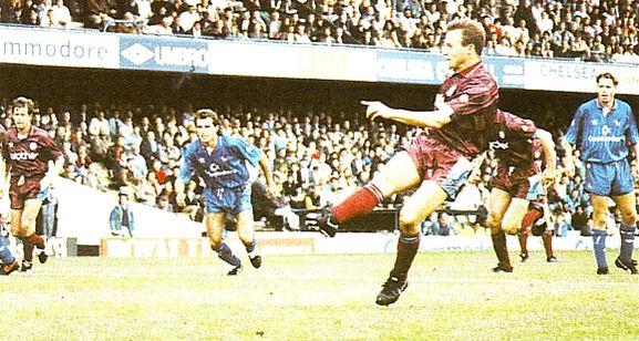 Chelsea away 1990 to 91 ward goal