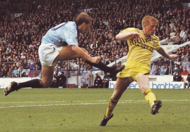 Coventry home 1990 to 91 harper goal