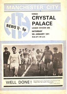 Crystal Palace home 1970-71 programme