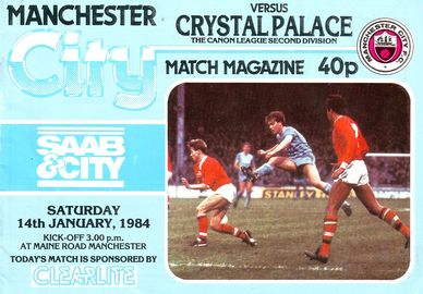 Crystal Palace home 1983 to 84 proga
