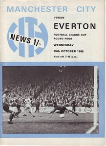 Everton Home League Cup 1969-70 programme