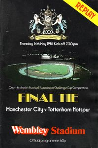 FA Cup Final Replay 1980 to 81 prog