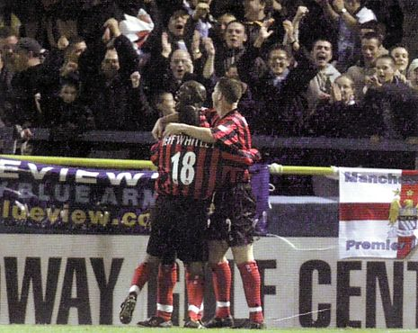 GILLinhgham away worthy cup 2000 to 01 2nd weah goal