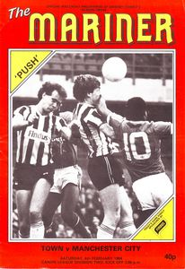 Grimsby away 1983 to 84 prog