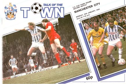 Huddersfield away fa cup 2nd replay 1987 to 88 prog