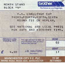 Huddersfield home replay fa cup 1987 to 88 ticket