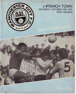 Ipswich home 1975 to 76 prog