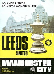 Leeds away fa cup 1977 to 78 prog