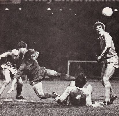 Liverpool home 1980 to 81 home league cup action3