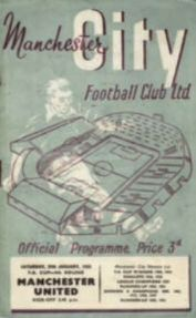 MAN UTD HOME FA CUP 1954 TO 55 prog
