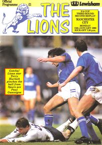 MILLWALL away fa cup 2nd replay 1989 to 90 prog