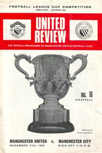 Man Utd Away League Cup Semi 1969-70 Programme
