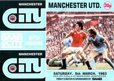 Man utd home 1982 to 83 prog