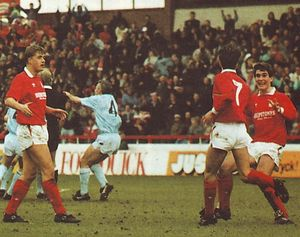 NOTTS FOREST AWAY 1989 to 90 crosby goal3