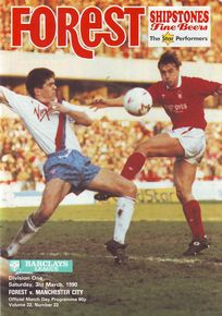 NOTTS FOREST AWAY 1989 to 90 prog
