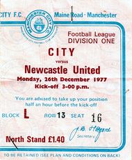 Newcastle home 1977 to 78 ticket
