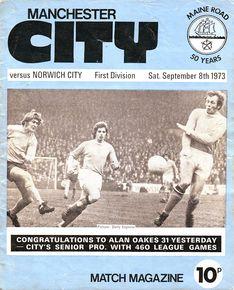 Norwich home 1973 to 74 proga